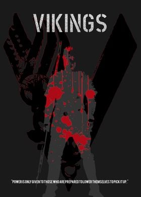 """Minimalistic poster for the TV show """"Vikings""""."""
