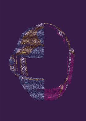 Daft Punk. Portrait made out of tiny icons; see more of ...
