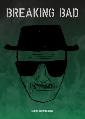 """A minimalistic poster for the TV show """"Breaking Bad""""."""
