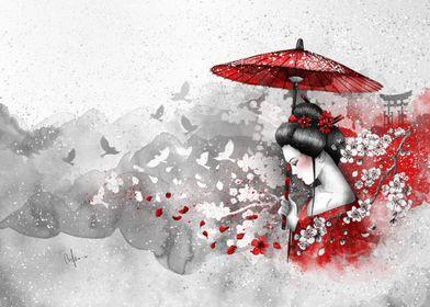 Falling blossoms