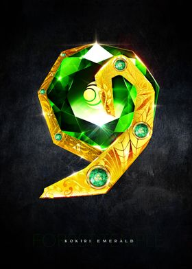 My rendition of a realistic Kokiri Emerald from the For ...