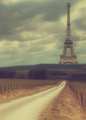 retro/vintage Eiffel Tower