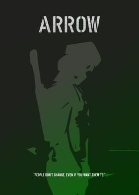 """A minimalistic poster for the TV show """"Arrow""""."""