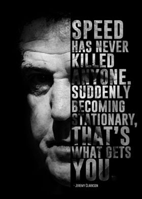 Former Top Gear's host Jeremy Clarkson and his quote.
