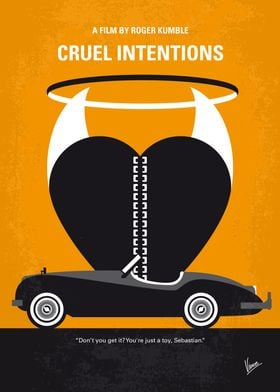 No635 My Cruel Intentions minimal movie poster Two wea ...