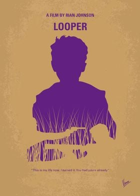 No636 My Looper minimal movie poster In 2074, when the ...