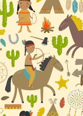 Native inspired children pattern