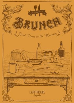 Brunch Artwork . Good times in the morning…