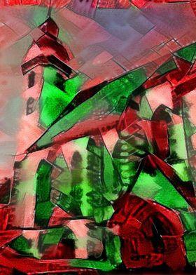 Torgau - photograph of a church in Torgau put through s ...