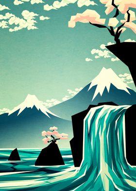 Waterfall blossom dream