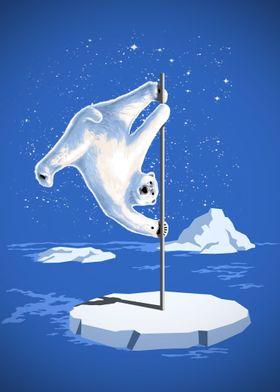 NORTH POLE DANCER - Pole Dancing Polar bear at North Po ...
