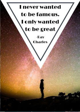 Digital Typography Poster, Quote by Ray Charles