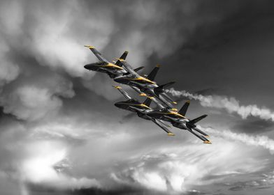 The US Navy Blue Angels Display team