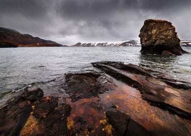Kleifarvatn is the largest lake on the Reykjanes penins ...