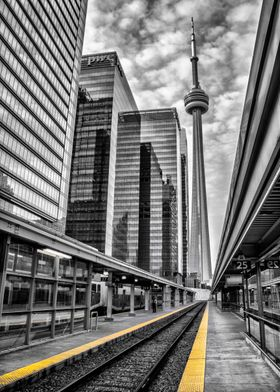 The CN Tower at Union Station. By Ken Chambers