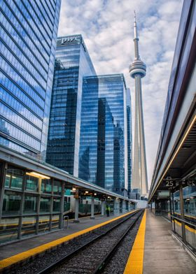The CN Tower, shot from an empty Union Station. By Ken  ...