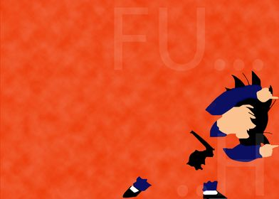 Goten in fusion dance ending in minimalist style. Can b ...