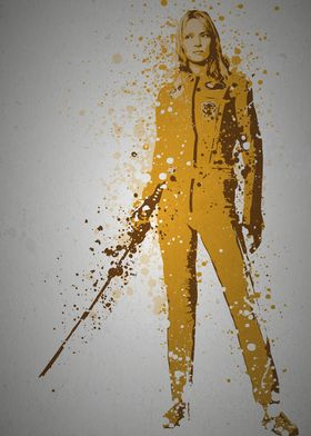"""""""The Bride"""" Splatter effect artwork inspired by Kill Bi ..."""