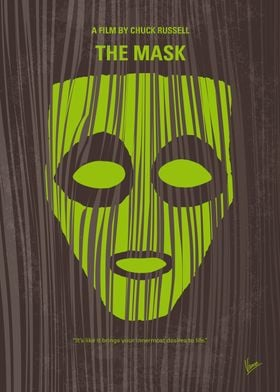 -- No647 My The Mask minimal movie poster Bank clerk S ...