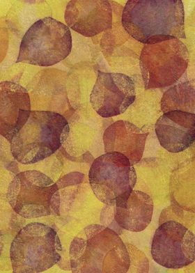 Aspen Leaves - mixed media
