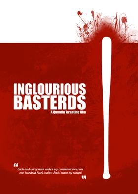 Inglourious Basterds. Minimal Movie Poster - A Quentin  ...