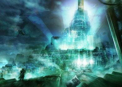 Concept Art of Final Fantasy 7, Cloud going to the Shin ...