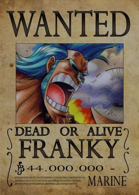 Wanted of Franky from One Piece !!