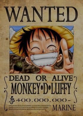Wanted of Monkey D Luffy from One Piece