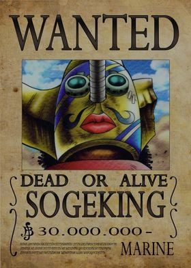 Wanted of Sogeking from One Piece