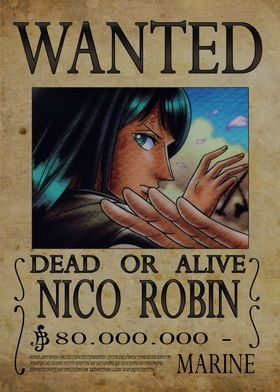 Wanted of Nico Robin from One Piece !!