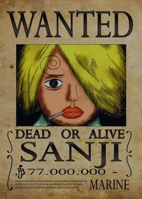 Wanted of Sanji from One Piece