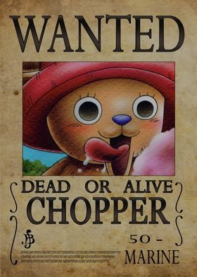 Wanted of Chopper from One Piece !!