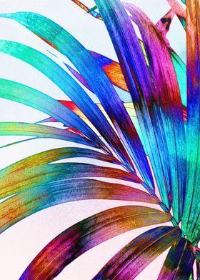 Multicolor Palm Leaf