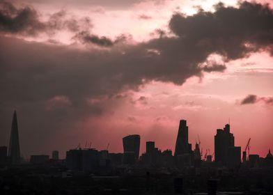 City of London by sundown.