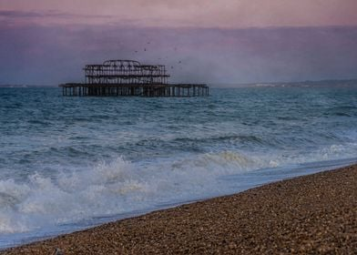 Dawn At The Ruins Of The West Pier