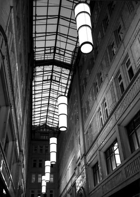 Lamps over street.Vienna