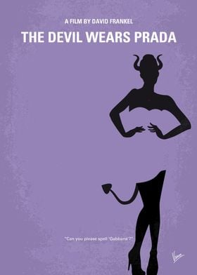 No661 My The Devil Wears Prada minimal movie poster A ...