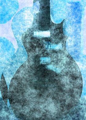 Abstract Guitar Watercolor