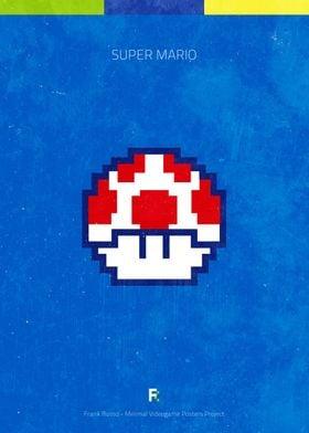 Super Mario. Minimal Videogame Poster.