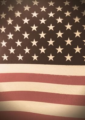 3D American Flag · Vintage Version