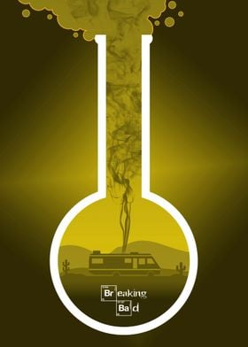 Breaking Bad - Minimal TV Poster - Yellow
