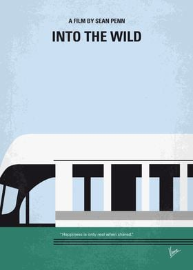 No677 My Into the Wild minimal movie poster After grad ...