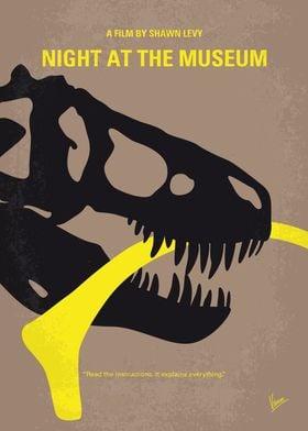 No672 My Night at the Museum minimal movie poster A ne ...