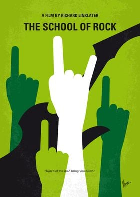No668 My The School of Rock minimal movie poster After ...