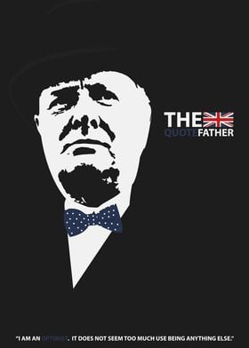 A Churchill poster made in the style of the godfather.  ...