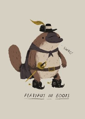 platypus in boots!
