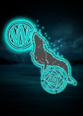 The mystic wolf that watches over us.