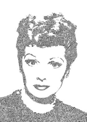 Lucille Ball created out of text.