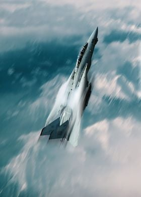 The US Navy F14 Tomcat climbing rapidly