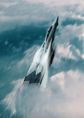 The US Navy F14 Tomcat climbing rapidly